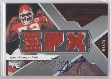 2008 SPx - Rookie Winning Materials - Triple Jersey SPX Letters Autograph #RM-GD - Glenn Dorsey /25