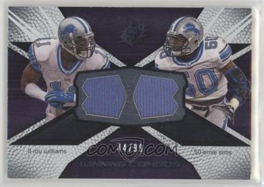 2008 SPx - Winning Combos - 99 #WC54 - Roy Williams, Ernie Sims /99