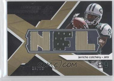 2008 SPx - Winning Materials - Single Jersey NFL Letters #WM-JE - Jerricho Cotchery /99