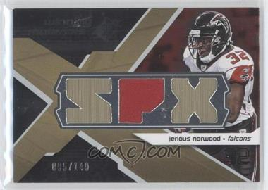 2008 SPx - Winning Materials - Single Jersey SPX Letters #WM-NO - Jerious Norwood /149