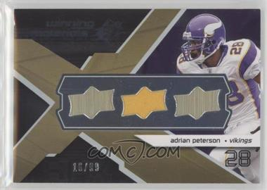 2008 SPx - Winning Materials - Single Jersey Upper Deck Logo #WM-AP - Adrian Peterson /99