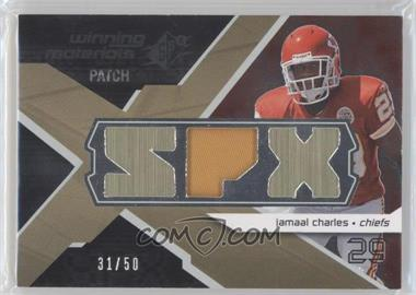 2008 SPx - Winning Materials - Single Patch SPX Letters #WM-JC - Jamaal Charles /50