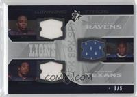 Kevin Smith, Steve Slaton, Ray Rice /5