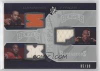 Andre Caldwell, Dexter Jackson, Jerome Simpson #/99