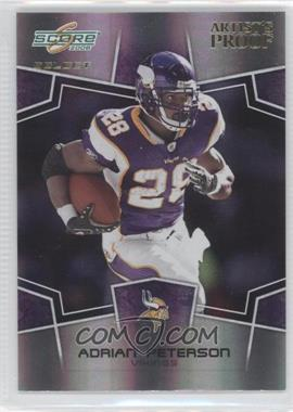 2008 Score Select - [Base] - Artist's Proof #172 - Adrian Peterson /32