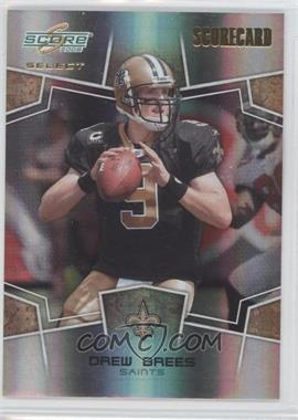 2008 Score Select - [Base] - Scorecard #192 - Drew Brees /100