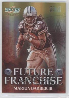 2008 Score Select - Future Franchise - Gold Zone #FF-10 - Marion Barber III /50