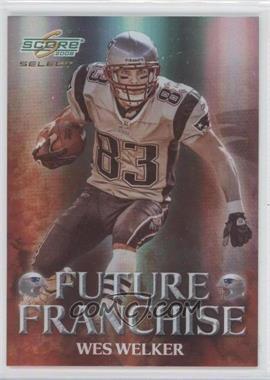 2008 Score Select - Future Franchise #FF-13 - Wes Welker /999