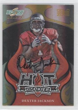 2008 Score Select - Hot Rookies - Gold Zone Autographs [Autographed] #HR-7 - Dexter Jackson /40