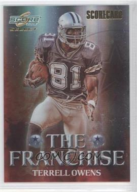 2008 Score Select - The Franchise - Scorecard #F-5 - Terrell Owens /100