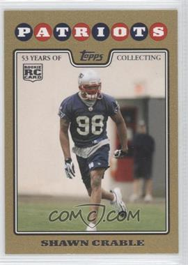 2008 Topps - [Base] - Gold Border #423 - Shawn Crable /2008