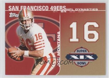 2008 Topps - NFL Dynasties Tribute #DYN-JM2 - Joe Montana