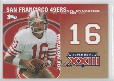 2008 Topps - NFL Dynasties Tribute #DYN-JM3 - Joe Montana