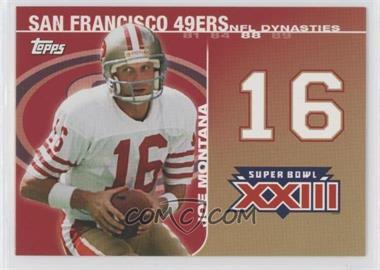 2008 Topps - NFL Dynasties Tribute #DYN-JM3 - Joe Montana