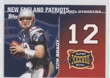 2008 Topps - NFL Dynasties Tribute #DYN-TB - Tom Brady