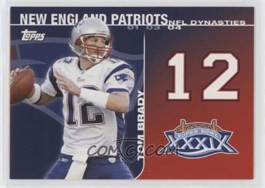2008 Topps - NFL Dynasties Tribute #DYN-TB2 - Tom Brady