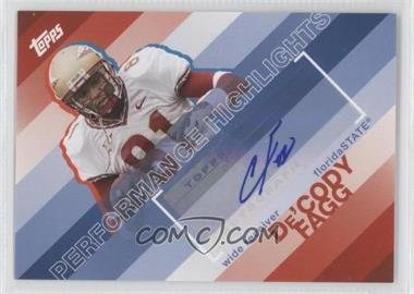 2008 Topps - Performance Highlights - Autographs [Autographed] #THA-DF - De'Cody Fagg