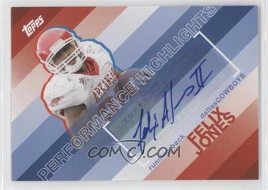 2008 Topps - Performance Highlights - Autographs [Autographed] #THA-FJ - Felix Jones