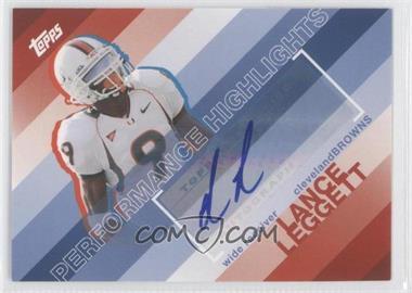 2008 Topps - Performance Highlights - Autographs [Autographed] #THA-LL - Lance Leggett