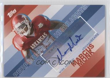 2008 Topps - Performance Highlights - Autographs [Autographed] #THA-MMO - Marcus Monk