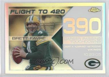 2008 Topps Chrome - Brett Favre Collection - White Refractor #BFC-390 - Brett Favre /100