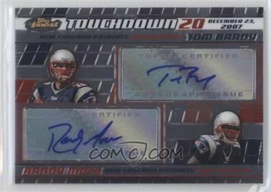 2008 Topps Finest - Tom Brady/Randy Moss Dual Autographs #BM-20 - Tom Brady, Randy Moss /23