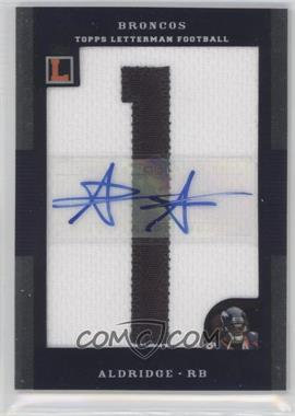2008 Topps Letterman - Autographed Letterman Patch #AP-AA - Anthony Alridge /35