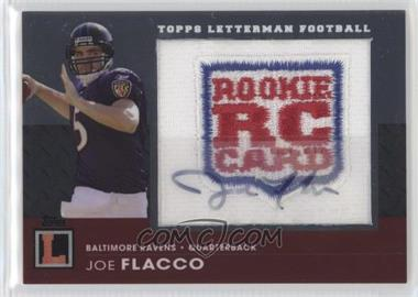 2008 Topps Letterman - Autographed Rookie Logo Patch #RAP-JF - Joe Flacco /79