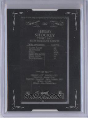 2008 Topps Mayo - [Base] - Mini Framed Printing Plate Black Backs #107 - Jeremy Shockey /1