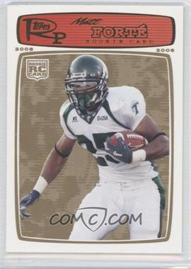 2008 Topps Rookie Progression - [Base] - Gold #219 - Matt Forte /199