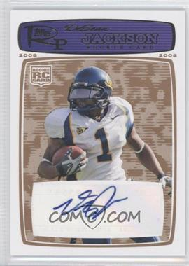 2008 Topps Rookie Progression - [Base] - Rookie Autographs Blue Bronze [Autographed] #178 - DeSean Jackson /35