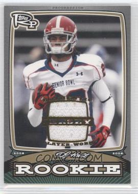 2008 Topps Rookie Progression - Rookies - Gold Jerseys [Memorabilia] #PR-DH - DJ Hall /99