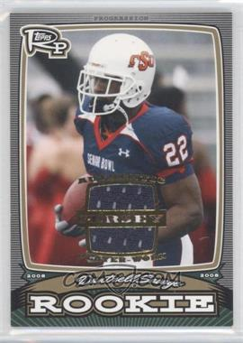 2008 Topps Rookie Progression - Rookies - Gold Jerseys [Memorabilia] #PR-DS - Dantrell Savage /99