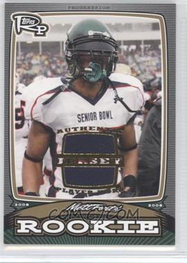 2008 Topps Rookie Progression - Rookies - Gold Jerseys [Memorabilia] #PR-MF - Matt Forte /99