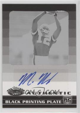 2008 Topps Stadium Club - [Base] - Rookie Autographs Framed Printing Plate Black [Autographed] #122 - Malcolm Kelly /1