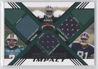 Felix Jones, Chad Henne, James Hardy /50