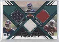 Early Doucet, James Hardy, Mario Manningham #/50