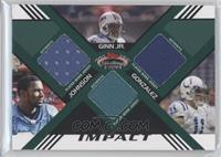 Calvin Johnson, Trent Edwards, Lee Evans /50