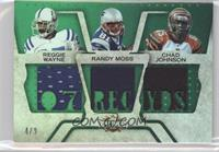 Reggie Wayne, Chad Johnson, Randy Moss #/9
