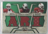 Anquan Boldin, Larry Fitzgerald, Matt Leinart #/9
