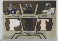 Ben Roethlisberger, Willie Parker, Hines Ward #/15