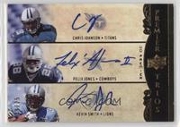 Chris Johnson, Felix Jones, Kevin Smith /25