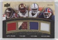 Frank Gore, Joseph Addai, Marshawn Lynch, Cadillac Williams #/15