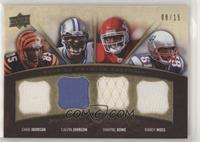 Dwayne Bowe, Chad Johnson, Calvin Johnson, Randy Moss #/15