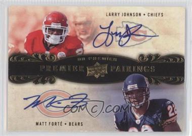 2008 UD Premier - Premier Pairings Signatures #PRP11 - Matt Forte, Larry Johnson /50