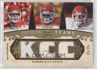 Brodie Croyle, Larry Johnson, Tony Gonzalez #/25