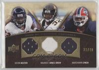 Marshawn Lynch, Devin Hester, Maurice Jones-Drew #/40