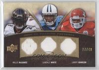 LenDale White, Willis McGahee, Larry Johnson /40