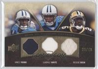 Vince Young, LenDale White, Reggie Bush #/40