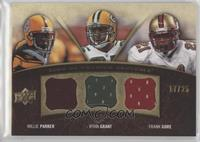 Frank Gore, Willie Parker, Ryan Grant #/25